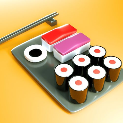 VR Everyday #56 – Sushi Minimal Design Art Blocks